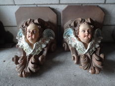 Two angel consoles - 19th century