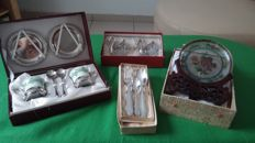 Lot old silver plated kitchen objects
