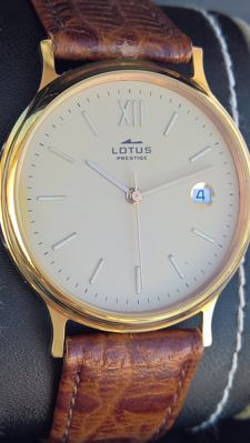 Lotus – GOLD 18 kt – Prestige – Quartz – C-131 – men's – 2000-2010