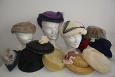 Lot of 12 original Art Deco hats