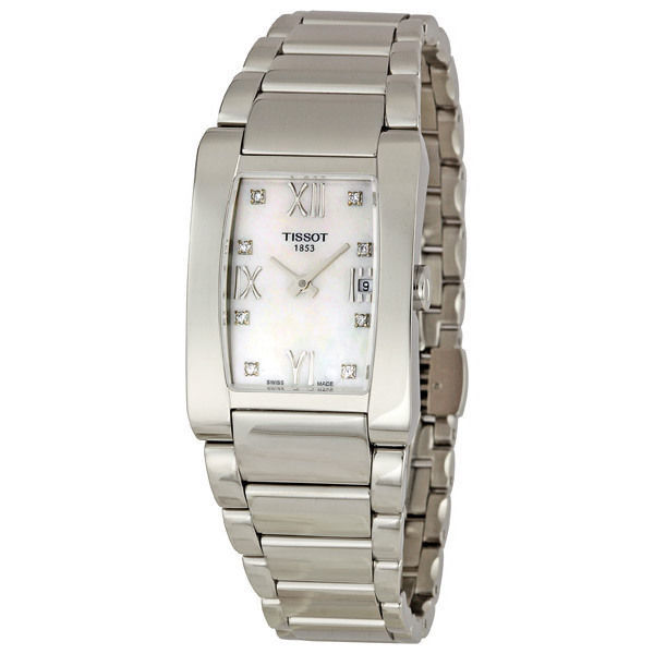 TISSOT - Women's GENEROSI-T 1997 collection - Diamonds - Mother of pearl dial - NEW