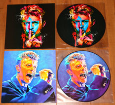 David Bowie- Great lot of 2 limited edition picture disc lp's: The Man Who Play in Dublin & Fame In Paris/ both special limited editions for Ziggy Stardust Nippon