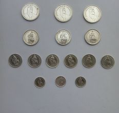 Switzerland - Lot of 15 coins - silver