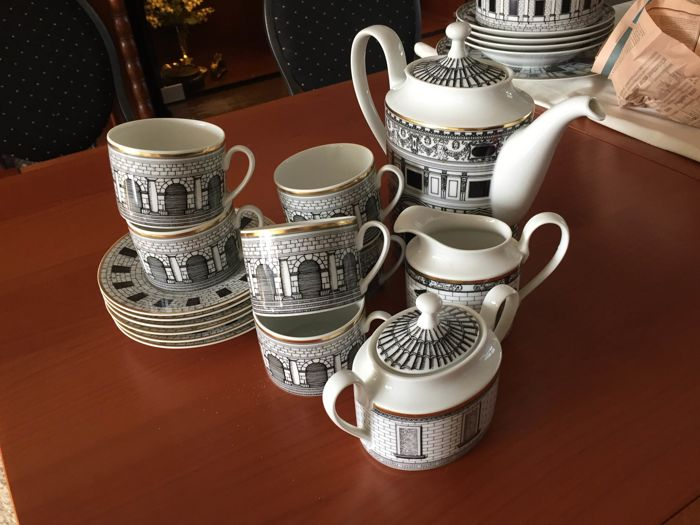Rosenthal, Fornasetti Palladiana coffee set