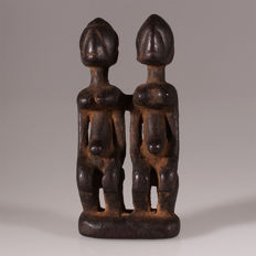 Old Dogon Divination Statue, Superb Patina - Mali