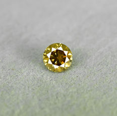 Natural Fancy Orangy Yellow Diamond – 0.31 ct, Si1