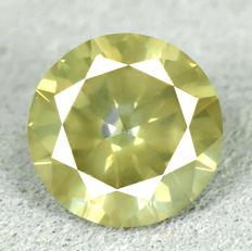 Diamond - 1.01 ct – Untreated Color Natural Fancy Yellowish Green