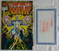 Infinity War Ron Lim Signed Issue # 5 Comic with COA 1992 NM/M Marvel Comics