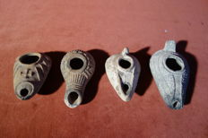 Baked clay oil lamps - dimensions: 70-98 mm (4)