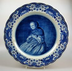 Zenith - delftware plate depicting a portrait by Jan Steen
