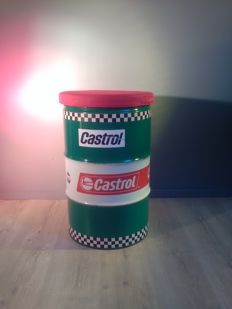 Castrol - Barrel / Seat / Chair - Metal 60 x 40 cm