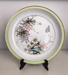A large Jingdezhen porcelain plate - China - Second half of 20th century