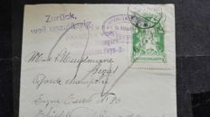 The Netherlands 1916 - Internment camp stamp - NVPH IN1 on part of a letter.