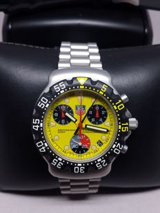 Unworn Tag Heuer Formula 1 Chronograph Yellow Dial With Unworn Rubber Strap  — CA1213 — Mens Wristwatch 2008