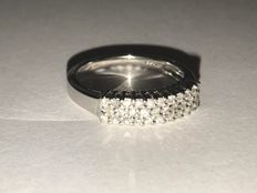 Art Deco' white gold ring with diamonds for 0.32 ct **Low Reserve Price**