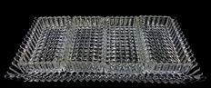 Antique hors d'oeuvre plate in French crystal