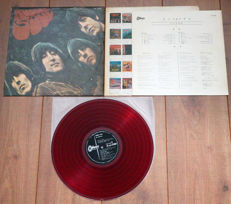 "The Beatles- Rubber Soul lp/ 1st Japanese pressing on ""low noise"" RED wax, w. 4-page lyric sheet & original inner sleeve"