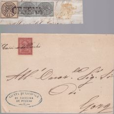 "Kingdom of Italy and Republic Vatican from 1852 to 1975 - Collection composed of 3 letters and a fragment and 25 FDC  ""aperture e chiusura Porta Santa"", (opening and closing of the Porta Santa)."