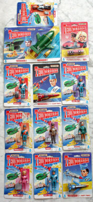 Thunderbirds- 13 Matchbox models and action figures - 1992-1993