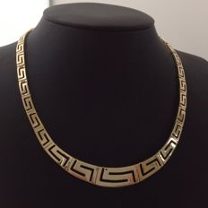 Yellow gold 14 kt choker - Meander design - 27.0 grams - 42 cm