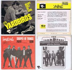 Yardbirds: lot of 3 45's/EP with Picture Sleeve: 1. Happening Ten Years Time Ago (1966), 2. Heart Full Of Soul (EP) (1965), 3. Shapes Of Things (1966)