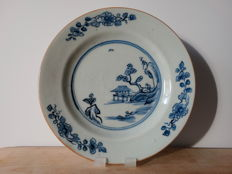 Set of 6 underglaze blue plates from the Qianlong period, Qing Dynasty, 18th c>