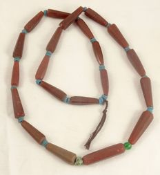1 string old Bohemian glass beads 1850 - 1900