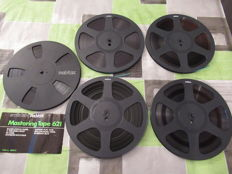Lot of 5 REVOX Mastering Tapes on 26 cm coils