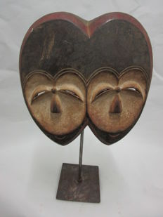 Mask with two faces - KWELE - Gabon