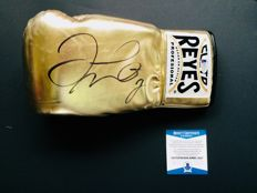 Floyd Mayweather - Authentic & Original Signed Autograph in a Gold Boxing Glove - with Certificate of Authenticity BECKETT