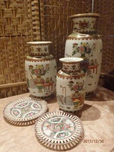 Vases and plates - China - End of the XX century