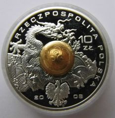 Poland - 10 Zloty 2008 Games of the XXIX Olympiad - Beijing 2008 - silver