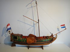 States yacht - wooden model after the original construction drawing from 1746