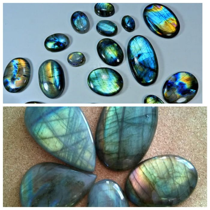 Natural Multi Labradorite Multi Flash Mix Cabochon - 957 Cts( 21 Pc's)