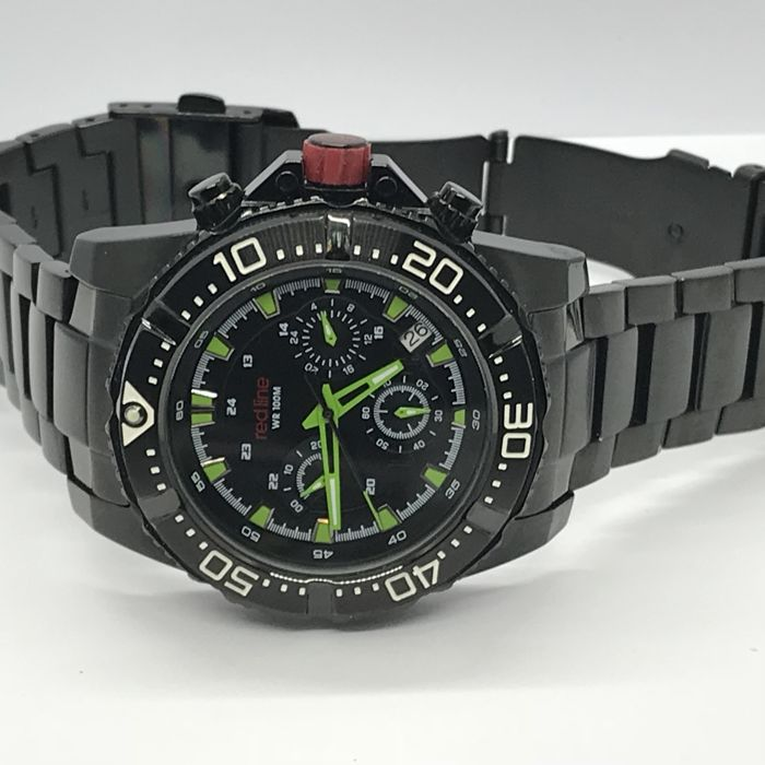 red line - Black PVD Coating Racer Men's watch - RL-50030VK-BB-01GN - Men - 2011-present