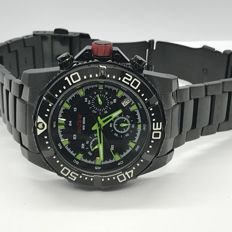 Red Line Mens Driver Chronograph Black Dial Black Coating Watch