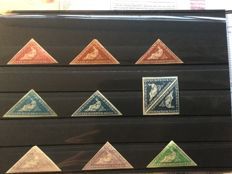 Cape of Good Hope - collection of ten different triangles