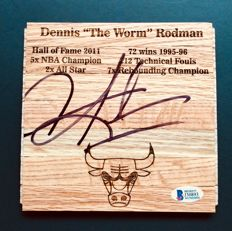 Dennis Rodman #31 / Chicago Bulls - Authentic Signed Hardwood Floor  - with Certificate of Authenticity Beckett