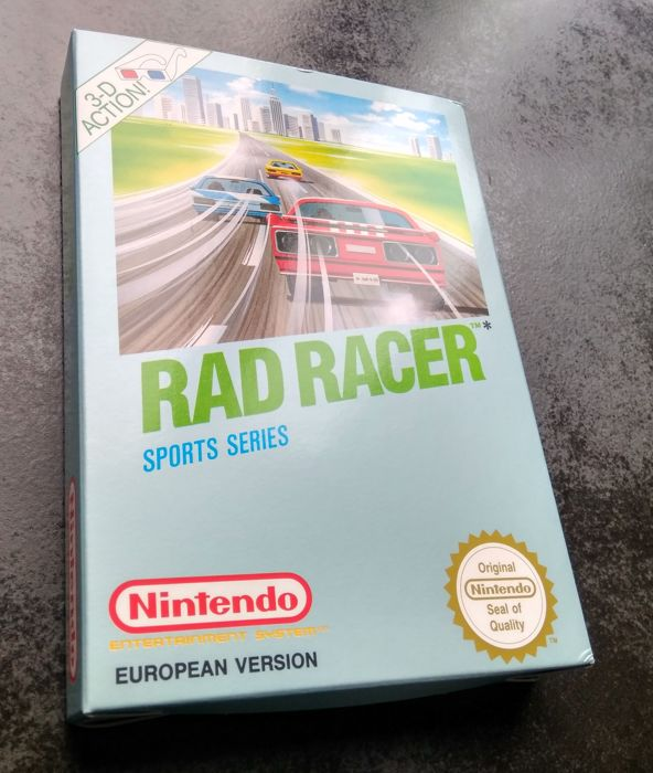 Rad Racer Nintendo NES Brand New Boxed & Complete With 3D Glasses