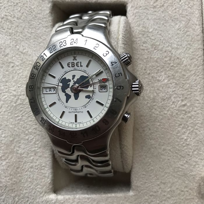 Ebel - Sportwave Meridian Worldtime GMT automatic - E9122641 - Ανδρικά - 2000-2010