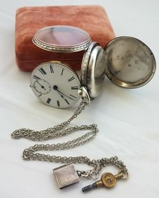 1867 - J. Bramwell Alston Silver Fusee Movement English Pocket Watch