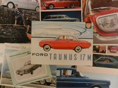 55 FORD GERMANY Brochures from 1961.  CAPRI, TAUNUS, FIESTA, SCORPIO, RS, etc, etc, etc.