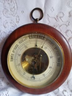 Magnificent old round barometer