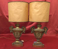 Pair of altar vases in silver plated copper, Lombardy, Italy, late 18th century