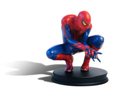 set of detailed figurines of Spider-Man and The Lizard