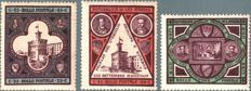 San Marino 1892/1894 - Inauguration of the Palace of Government, complete series - Sass.  N°  S5