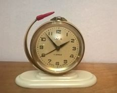1961-IV-12 Space rocket VOSTOK-1 - The First Man in Space - Yuriy Gagarin - Vintage USSR Alarm Clock SLAVA