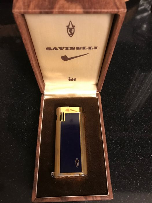 Savinelli ITT blue and gold pipe lighter