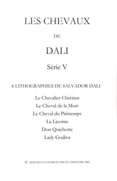 Salvador Dalí (after)  - The Horses of Salvador Dalí.  Portfolio V.