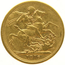 Australia - Sovereign 1876 M (Melbourne) - Victoria - gold